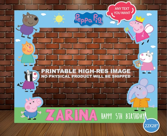 PEPPA PIG PHOTOBOOTH Frame Photo Booht Peppa Pig Photo