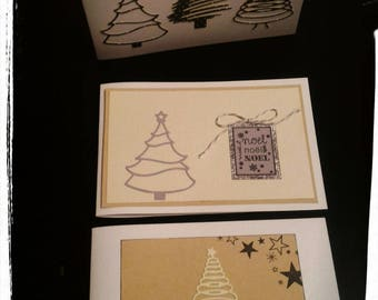 Set of 6 cards double Christmas theme