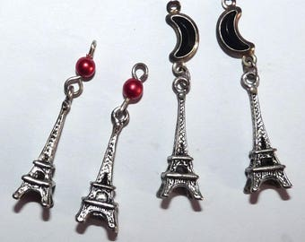 4 charms eiffel tower pendant Paris monument for jewelry making