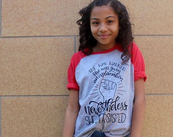 Nevertheless She Persisted, Feminist Kids Clothes, Future Activist Shirt, Women's Rights, Toddler T-Shirt, Girls T-Shirt, Feminism, Resist