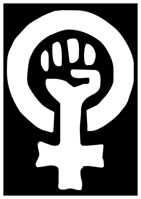 Sticker Feminist Feminism Woman Logo Symbol Clenched Fist