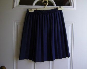 Navy Pleated Skirt by Cotu'J, Junior Size Medium