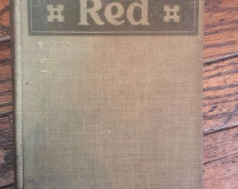 Vintage 1914 Overland Red Book  A Romance if the Moonstone Canon Trail