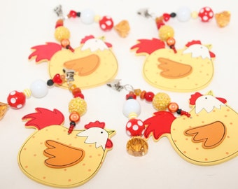 Chickens Tablecloth Weights Set of 4