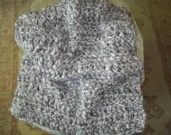 Gray Chunky Baby Blanket Newborn Photo Prop Soft Photography Prop Basket Stuffer Basket Filler