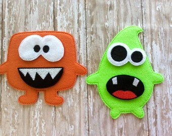 Build a Monster Set, Felt Monster Game, Educational Toy, Quiet Time Activity, Floor Play, Felt Board, Monster Puzzle, Travel Toy, Felt Toys