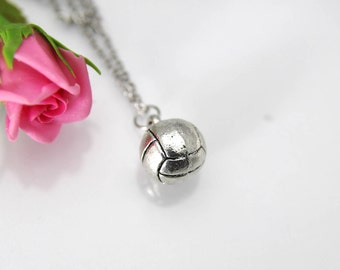 Volleyball Necklace, Volleyball Charm, Sport Charm, Volleyball Jewelry, Volleyball Team Gift, Volleyball Coach Gift, Volleyball Mom's Gift