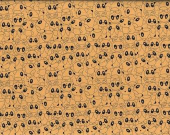 Pandas yellow JERSEY fabric