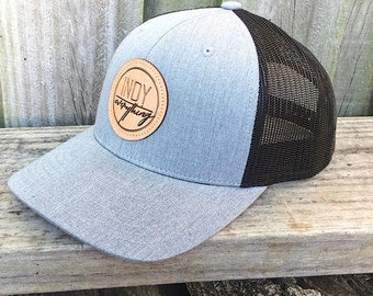 Indy Badge Trucker Hat - Grey and Black