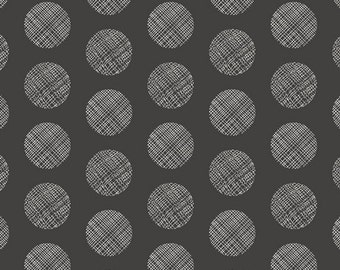 Chromatics by AGF Studio - Pointelle - Noir - 1/2 Yard Cotton Quilt Fabric 516