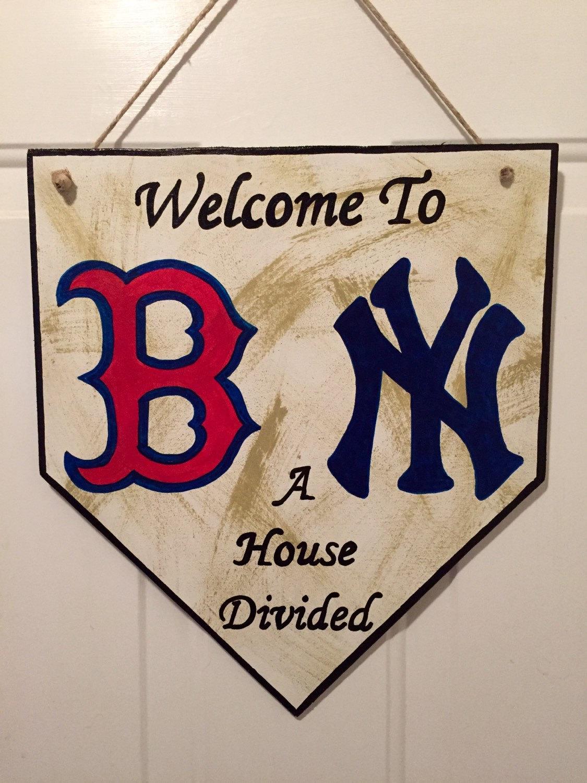 Home-Plate Zeichen Boston Red Sox Zeichen New York Yankees
