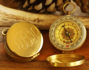 Personalized Compass - Personalized Engraved Groomsman Gift - Engraved Gold Compass