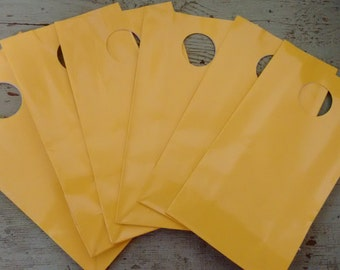Party Favor Bag.  Gift Bags. Bright  Yellow Party Favor Gift Bags
