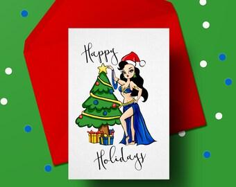Bellydancer Christmas Greeting Card