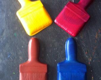 Paint brush crayons