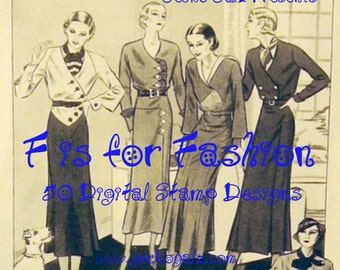 F is For Fashio Digital Stamp Set