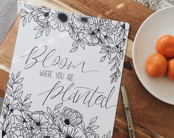 Bloom Where You Are Planted Drawing