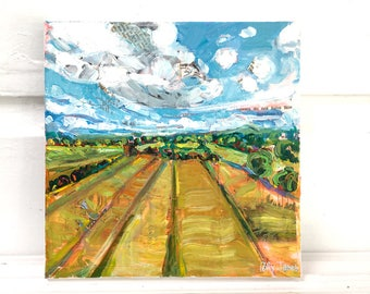Near and Far 2, orginal acrylic landscape painting by Polly Jones