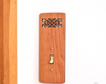 Wood Light Switch Plate - Celtic (Single and Double Light Switches)