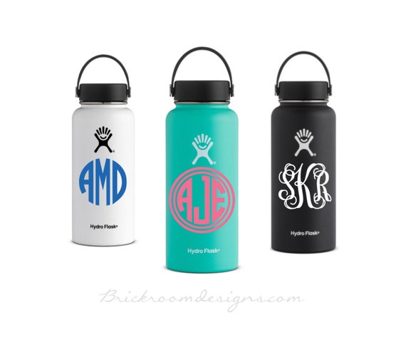 Hydro flask monogram decal vinyl monogram decal vinyl