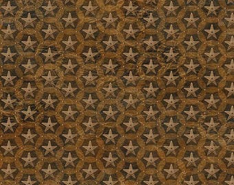 Stars, Western Look, Brown Fabric, Wild and Free, Northcott, Novelty Print (By YARD)~
