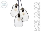 Bubble Hand Blown Glass Chandelier Light- USA MADE