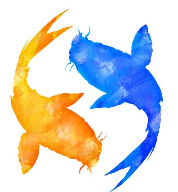 commercial use instant download orange blue koi fish clipart in rh etsystudio com  koi fish images clipart