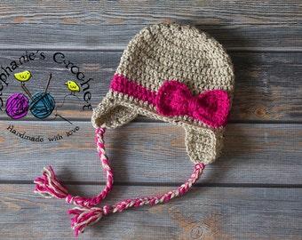 Crochet Newborn baby girl hat photography prop infant baby hat photo prop crochet baby hat- Made to order