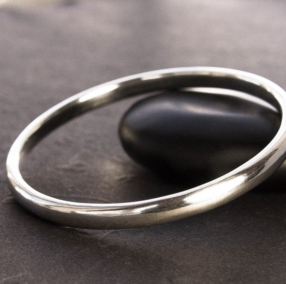 thick pin bangle bangles hammered heavy silver on by etsy sterling bracelet glassriverjewelry