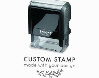 Custom Self-Inking Rubber Stamp | Your Logo, Drawing or Design | Eco-Friendly, Climate Neutral Self-Inking Stamp by Creatiate