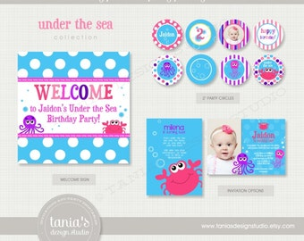 Under the Sea Printable Birthday Party Package by tania's design studio
