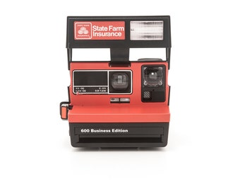 Polaroid 600 State Farm Insurance Business Edition Instant Camera - Polaroid 600 type camera - Instant Camera Tested - Working