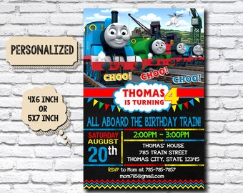 Thomas train etsy thomas train invitation thomas train birthday thomas train birthday invitation thomas train party filmwisefo Gallery