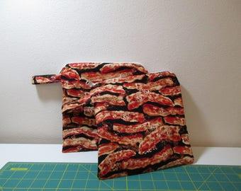 Bacon Zipper Bag