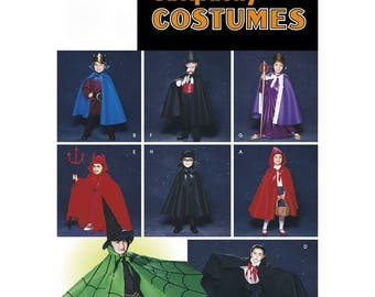 Simplicity 5927  Children's/Boys'/Girls' King, Magician, Queen, Devil, Bat, Dracula, Witch and Red Ridding Hood.