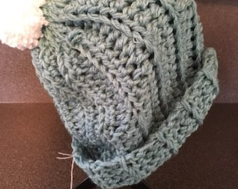 crocheted teen/adult ski hat
