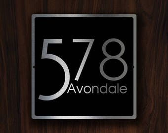 HOUSE NUMBERS SIGN, Modern House Sign, Custom House Numbers, House Numbers, Modern House Numbers, Modern Number Sign, house number Plaque