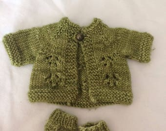 "Doll clothing DIY knitting pattern. Pattern cardigan pattern 9"" doll for the more advanced knitter PDF Instant Download"