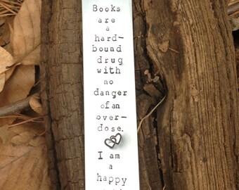Bookmark, handstamped bookmark, book lover gift, custom book mark, book mark gift, personalized, reader gift, book lover, books