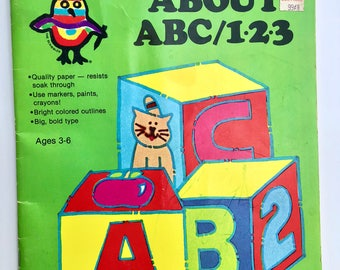Vintage The Scribbler's First Color book about ABC/123 Preschool