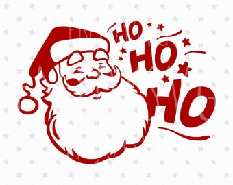 Ho Ho Ho svg Santa svg Santa svg file Santa Ho Ho Ho svg file Santa SVG Santa face svg Christmas svg Santa Claus svg Christmas Silhouette