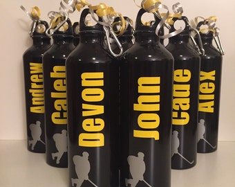 Personalized Aluminum Water Bottle for team sports, coaches, sports, coaches, cheerleading