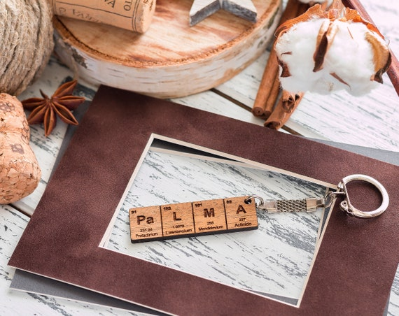 Periodic table name keychain gifts for him gifts for her periodic table name keychain gifts for him gifts for her wood gifts personal keychain skull keychain cool keychain anniversary gifts urtaz Image collections