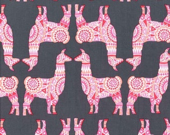 Michael Miller - Llama Rama - Berry - CX7586 BERR D - 100% cotton fabric - Fabric by the yard(s)