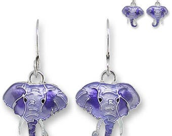 MERZIEs artisan silver U PICK earwires Zarah Elephant Radiance Zarlite dangle earrings - SHIPs from USA