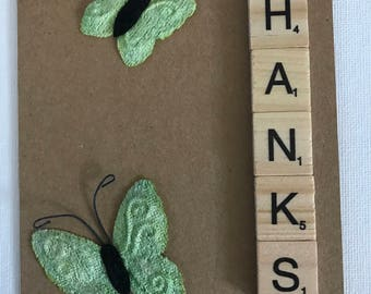 Butterfly Thank You Card - Say Thanks - Just Because