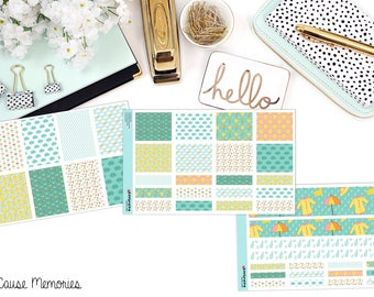 RAINY DAY KIT - Paper Planner Stickers