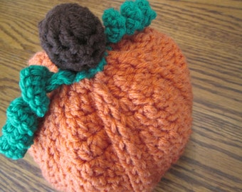 Textured Pumpkin Beanie