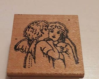Retired Rubber Stamp   -    Angels
