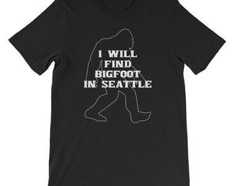 I will find Bigfoot shirt Yeti or Sasquatch Seattle